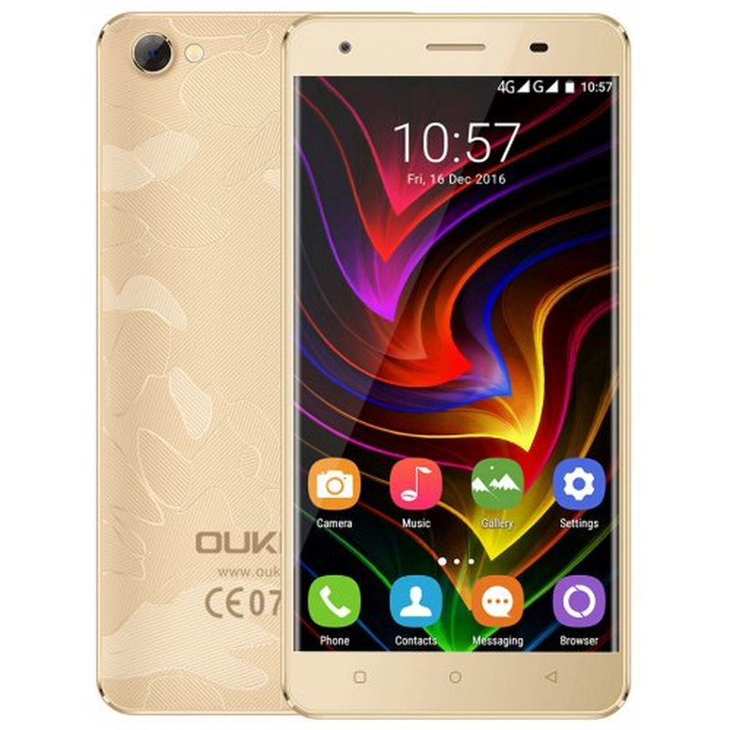 "OUKITEL C5 PRO SmartPhone 2 go RAM 16 go ROM 5.0 ""4G LTE téléphone MTK6737 Quad Core Android 6.0 2000MAH WIFI GPS téléphone portable"