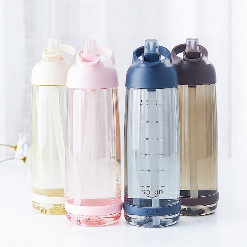 550ml 850ml Portable Office Outdoor Sports Travel Water Drink Bottle with straw plastic Protein Shaker Bottle new hydro flask|Water Bottles| |  - AliExpress