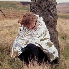 Открытый выживания тепловой Майларовый спасательный переохлаждение emergent держать фольгу одеяло аптечка лагерь теплый тепло сухой