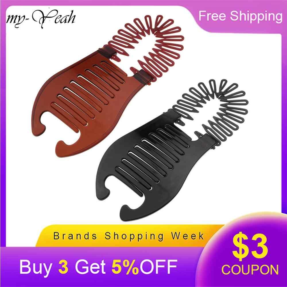 2 цвета, новая Женская эластичная резинка для волос типа скорпиона, инструмент для удерживания конского хвоста, резинки для волос, аксессуары