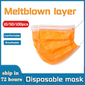 10/50/100 шт., Одноразовые эластичные маски для лица, из нетканого материала