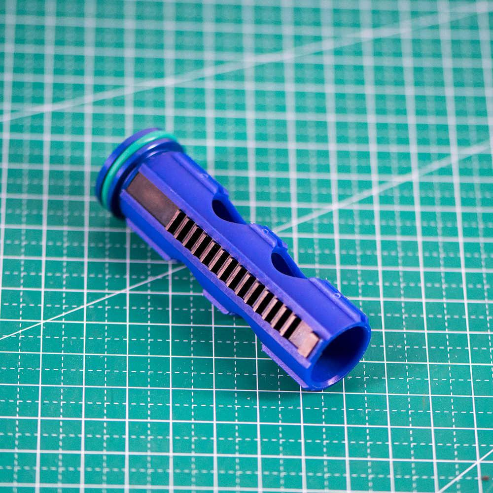 Pistão de carbono reforçado escada 14/15, aço completo para airsoft aeg gel blaster m4 jinming9 acessórios de paintball