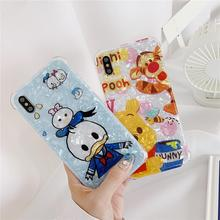 Funny Cartoon Cute Lovely Girly Duck Phone Cases For iPhone X 8 7 6 6s plus XS Max XR 6SP 7P i8P Grip Holder Stand Cover Fundas