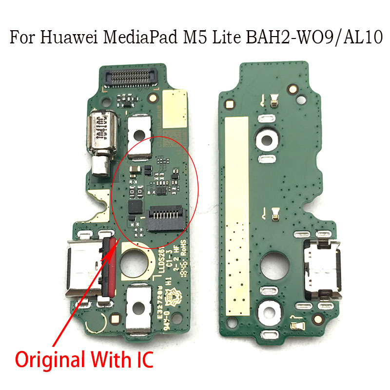 5pcs/lot Charger Board PCB Flex For Huawei Mediapad M5 Lite BAH2-W09/AL10 USB Port Connector Dock Charging Ribbon Cable
