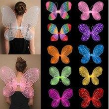 10 cores quente princesa crianças menina fada borboleta asas fantasia vestido festa traje adereços meninas fantasia vestir vestir-se