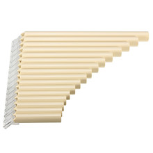 16 Tube Eco-Friendly Resin C Tone Pan Flute Easy Learning for Woodwind Musical Instruments Lovers Beginner Ivory Yellow(China)