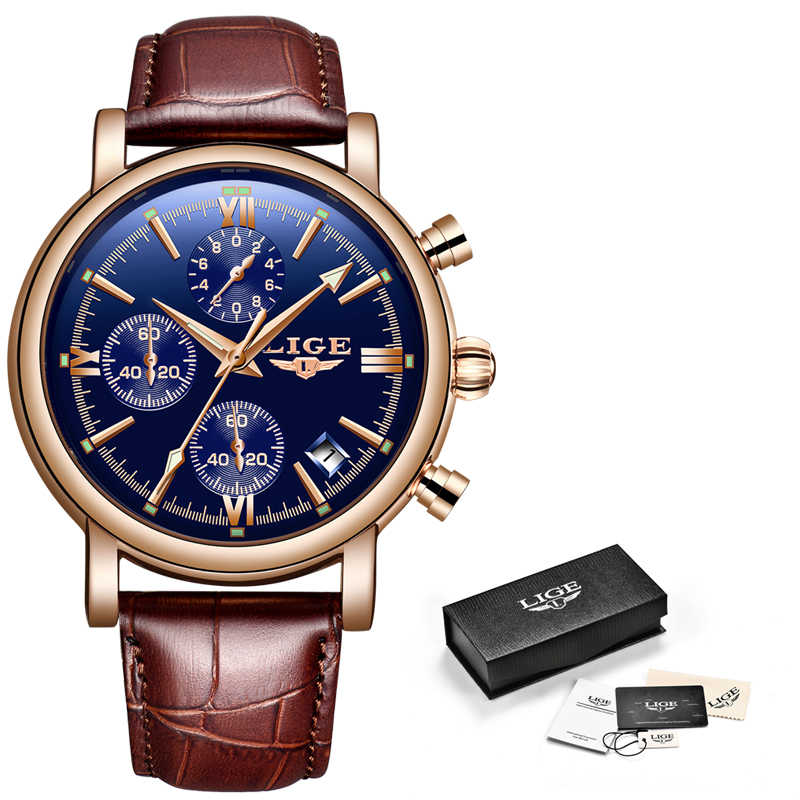 2019 nuevos relojes LIGE para hombre, reloj deportivo militar, reloj de cuarzo con cronógrafo de lujo, reloj impermeable, reloj de cuarzo, reloj Masculino