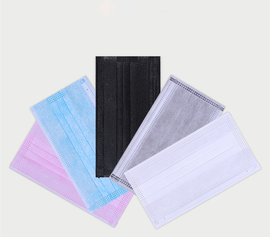 50Pcs 3 Layers Dustproof Facial Protective Cover Masks Anti-Dust Disposable Surgical Medical Salon Earloop Face Mouth Masks
