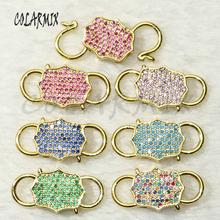 6Pcs Lock pendants lock S clasp Pendant mix colors Jewelry accessories for jewelry making bolt screw jewelry fashion 50717 cheap COLARMIX Copper Other 50718 Semi-precious Stone TRENDY Charms
