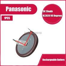 100% original vl2020 carro chave fobs com pernas 90 graus recarregável para bateria de botão panasonic