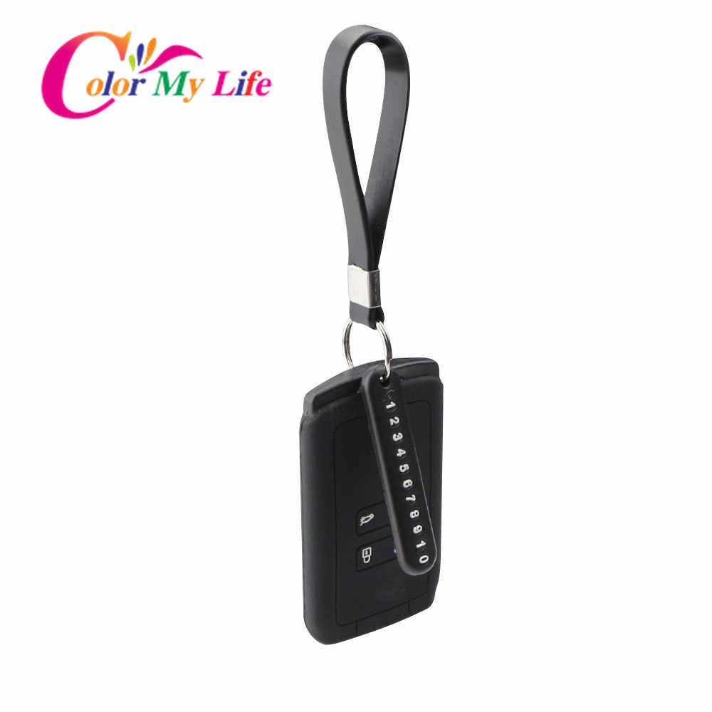 סיליקון רכב מפתח מקרה שרשרת טלפון מספר כרטיס Keychain עבור רנו Koleos השני Kadjar Espace סמסונג QM6 2016 - 2020 אבזרים