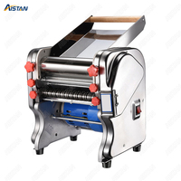 Electric Dough Roller Stainless Steel Dough Sheeter Noodle Pasta Dumpling Maker Machine 220V Roller and Blade Changable