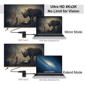Image 4 - USB نوع c إلى hdmi vga 3.5 مللي متر جاك AUX الصوت USB3.0 مع PD تحويل محول كابل لجهاز ماكبوك سامسونج كمبيوتر محمول