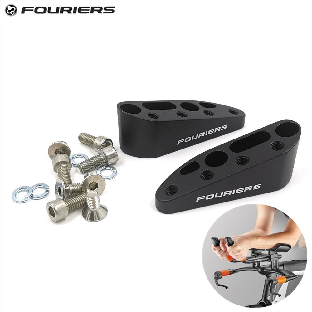 Fouriers Alloy TT Handlebar Spacer Extender For GIANT New Trinity Road Bike 10 Degrees 15 Degrees Aerobars Stack Height Stackers(China)
