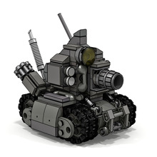 345Pcs MOC Micro Tank Brick Model Small Particle Building Blocks