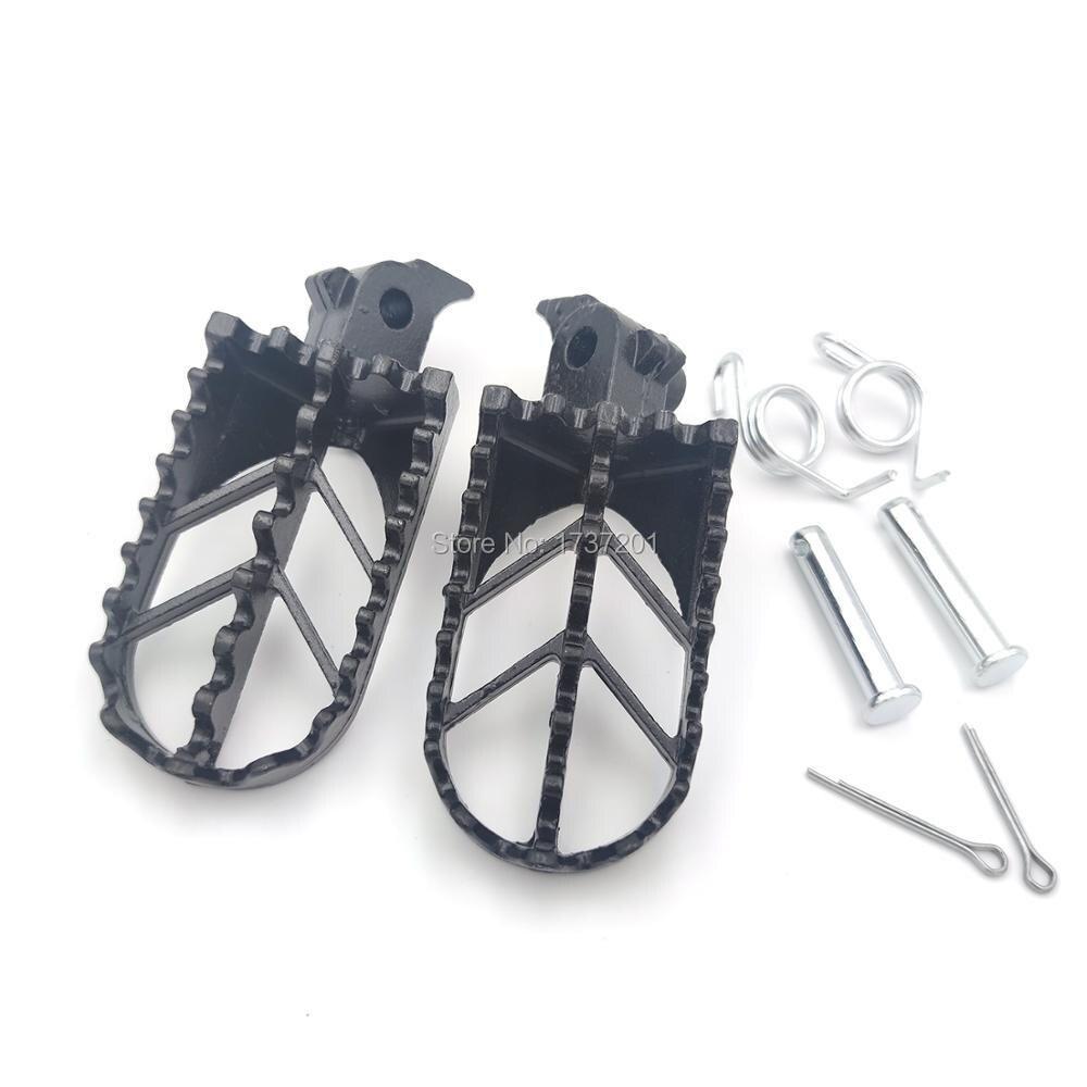 Подножки для мотоцикла из нержавеющей стали, черные подножки для питбайка, XR50 CRF50 CRF70 SSR