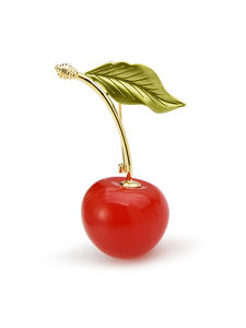Brooches Fruits Cherry Weddings 3-Color Baby Enamel Gifts Women Wuli for Red Casual Party