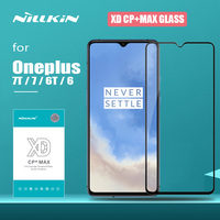 for Oneplus 7T 7 6 6T Glass Nillkin XD CP+ Pro Full Cover Tempered Glass Screen Protector for Oneplus 7T 6T 7 6 Nilkin 3D Glass|Phone Screen Protectors| |  -