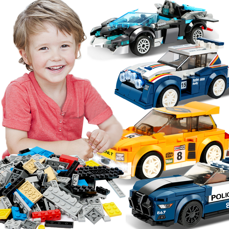 33 Different Models Racing Car Building Blocks Compatible LegoINGlys City Blocks Sports Car Construction Toys For Children Gift