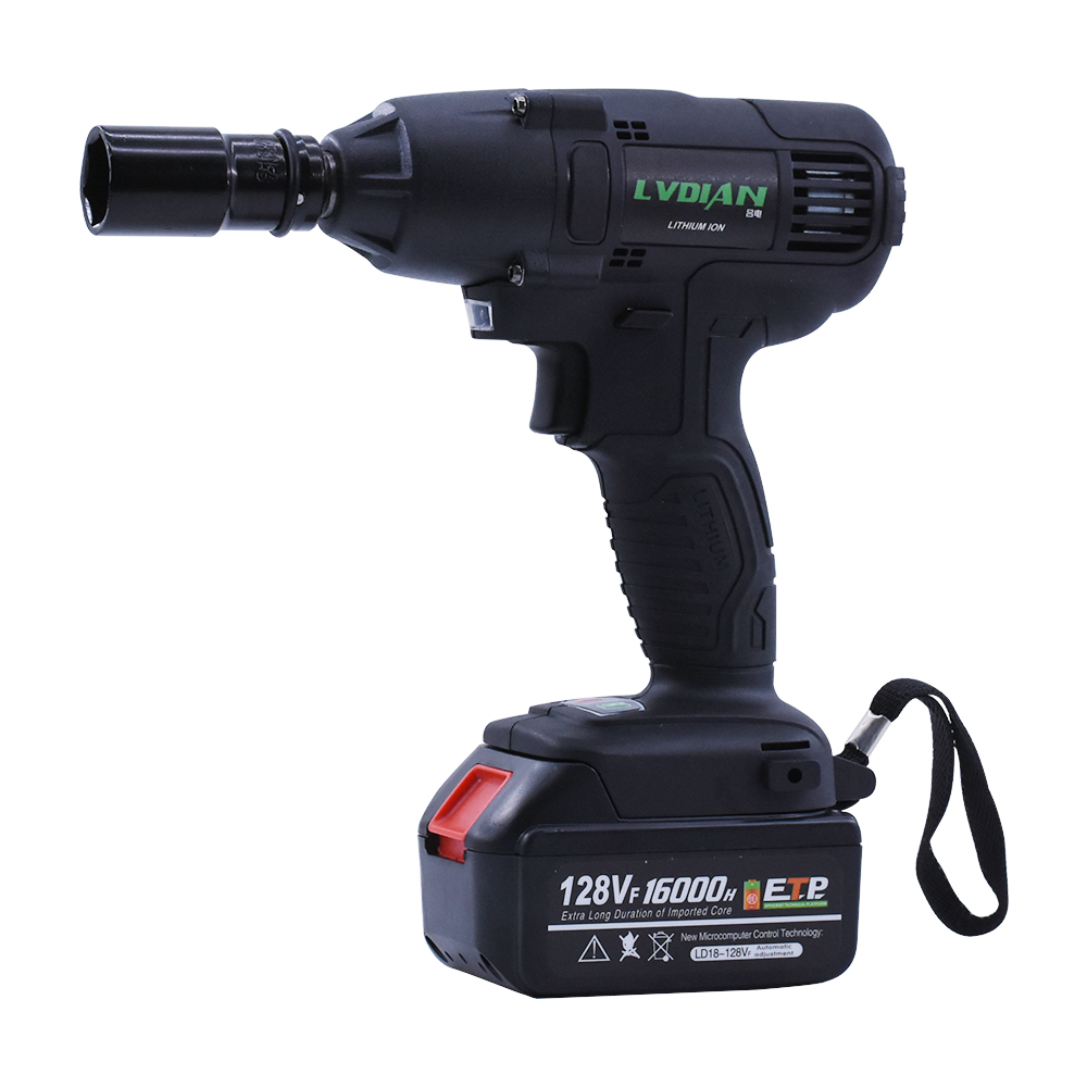 520N.m 128VF Cordless Electric Impact Wrench High Power Electric Wrench Brush 1x Li-ion Battery Brushless 110-240V Power Tools