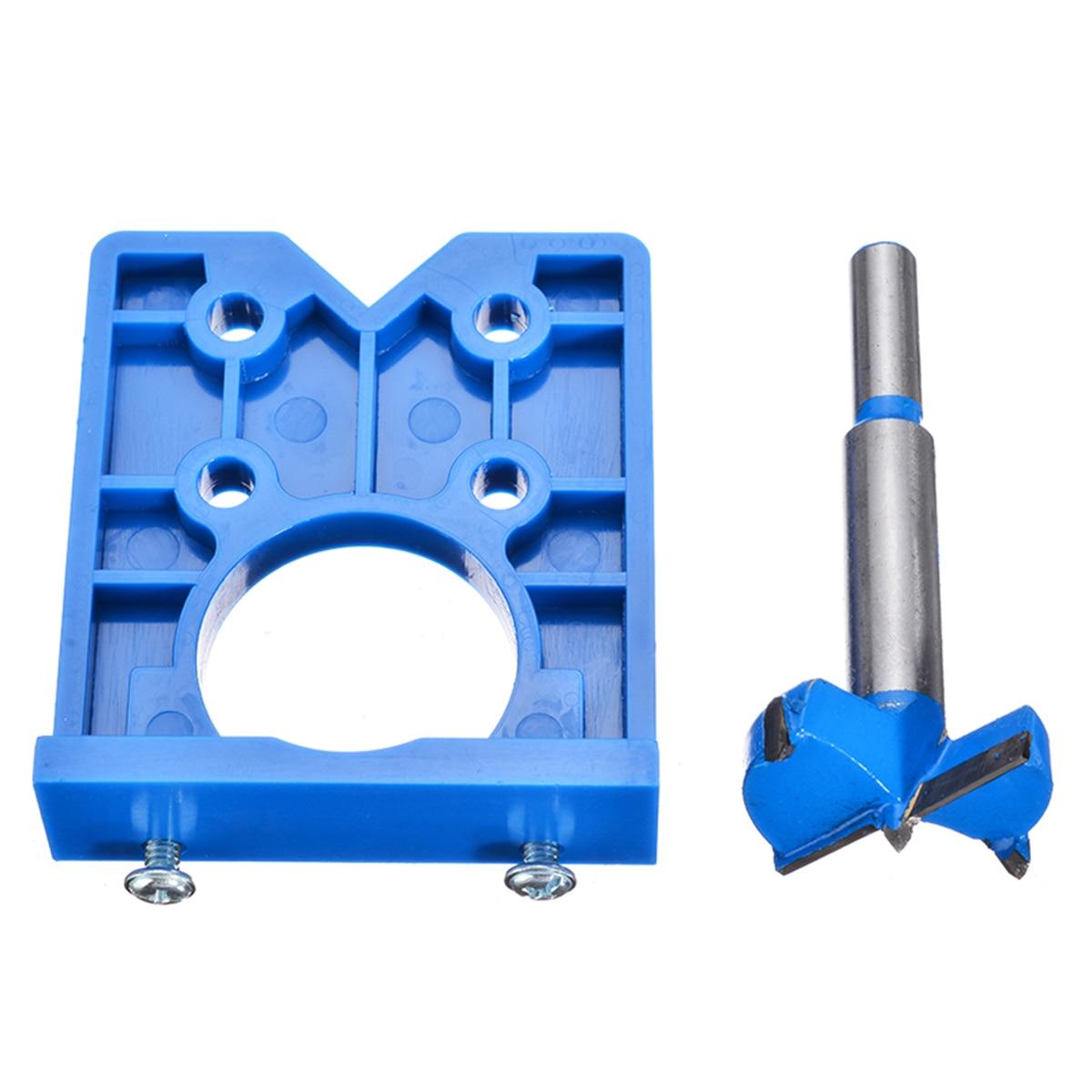 Деревообрабатывающий джиг 35 мм ABS скрытая петля отверстие джиг для кухонных дверей шкафа с сверлом инструмент петля отверстие джиг для стол...
