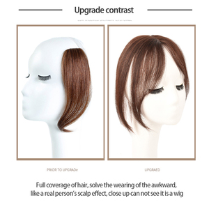 Image 2 - MUMUPI Long Clip In Front Hair Bang Side Fringe Hair Extension Real Synthetic hair 3D Middle Part Bangs Hair Piece
