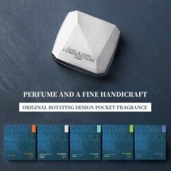 Оригинальный мужской однотонный парфюм с вращающимся на 360 ° дизайном, карманные духи, подарки, волшебный бальзам, долговечные ароматы, Рома...