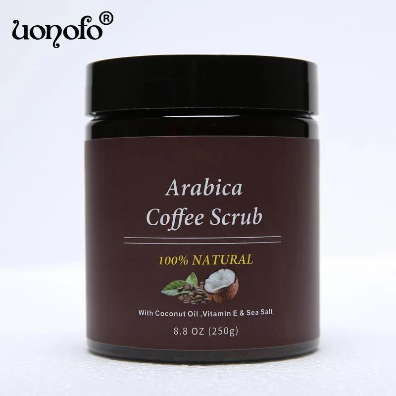 UONOFO 100% Natural Moisturizing And Nourishing Coffee Scrub Cream Body Skin Whitening Cleaning Coffee Scrub Cream