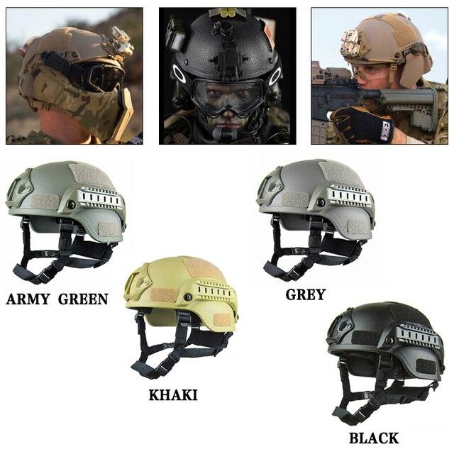 Пейнтбольный шлем страйкбол шлем поход шляпа ABS Тактический липкий бумажный боковой рельс наружное оборудование легкий военный спецназ