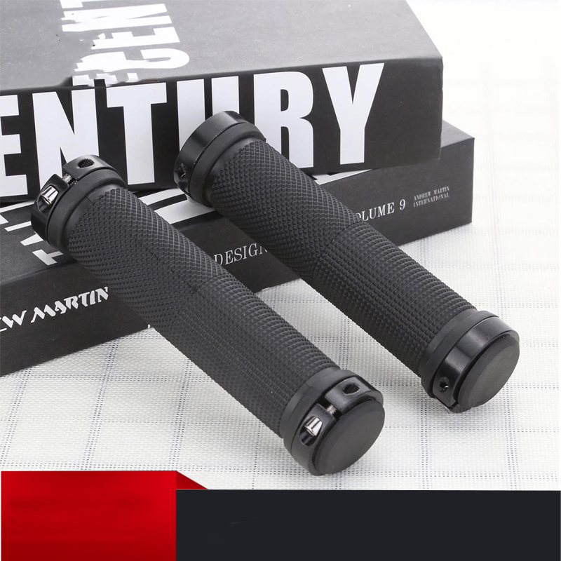 2pcs/1 Pair Mountain Road Cycling Bike Bicycle MTB Handlebar Cover Grips Smooth Soft Rubber Anti-slip Handle Grip Lock Bar End