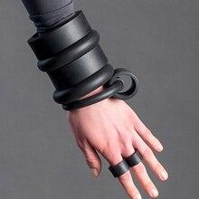 YD&YDBZ Trendy Round Rubber Loop Cuff Bracelets For Harajuku Boho Style Womens Wrist Jewelry New Punk Handmade Design