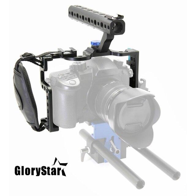 GloryStar DSLR מצלמה עם ידית עליונה Panasonic Lumix GH5 מצלמה Rig