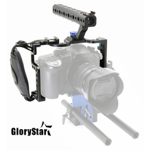 GloryStar DSLR kamera kafesi ile üst kolu kavrama Panasonic Lumix GH5 kamera Rig