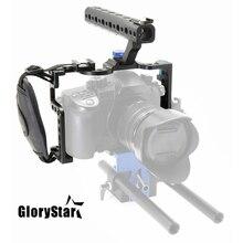 Glorystar Máy Ảnh DSLR Lồng Với Tay Cầm Cho Máy Ảnh Panasonic Lumix GH5 Camera Giàn Khoan