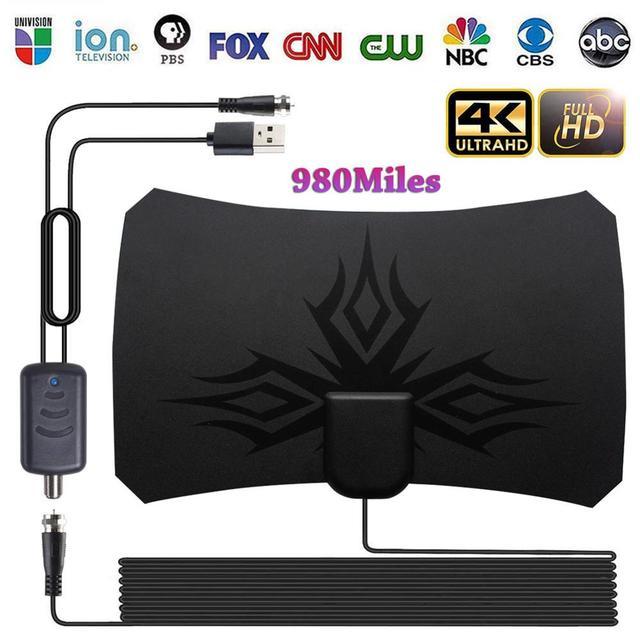 980 mile Digital Antenna TV indoor Amplifier Signal Booster DVB-T2 HDTV antenna isdb-tb Satellite Signal receiver clearTV Aerial