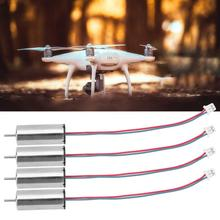 4 pcs Micro Coreless Motor 3V 44000RPM High Speed Low Consumption Hollow Cup Motors For DIY Aircraft цена