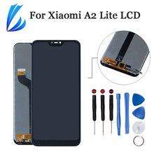 Jakość AAA wyświetlacz zgromadzenie dla Xiaomi Mi A2 Lite Panel LCD Digitizer dla Xiaomi Redmi 6 Pro wymiana ekranu dotykowego