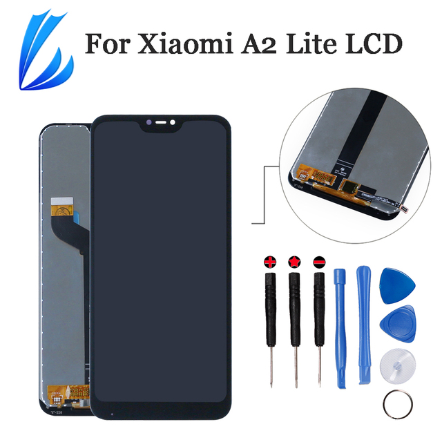 Qualità AAA Display Assembly Per Xiaomi Mi A2 Lite LCD Panel Digitizer Per Xiaomi Redmi 6 Pro Touch Screen di Ricambio