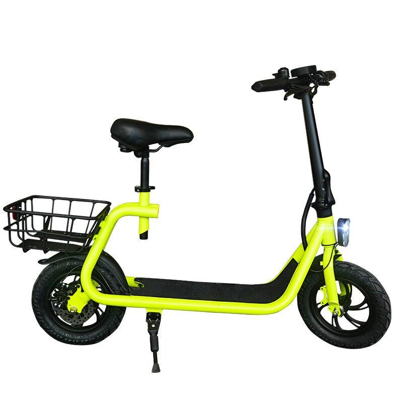 Daibot Scooter électrique vélo 12 pouces deux roues vélo électrique avec enfant/adulte siège 36V 350W Portable Scooter électrique