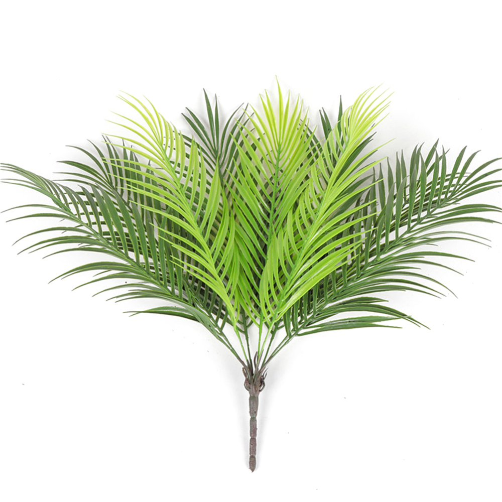 Plastic Artificial Silk Green Plants Fake Leaves 9 Branches Artificial Boston Fern Bouquet Craft Fake Foliage Home Decoration