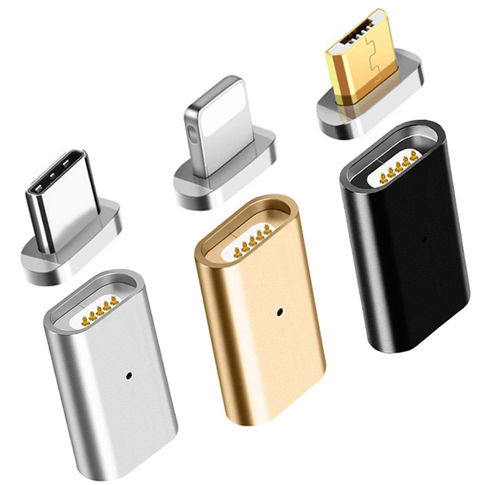 For Lighting To 3.5mm Magnetic Adapter USB Micro Female To Type C Micro Male Connector Data Converter  Android Phone Adapter