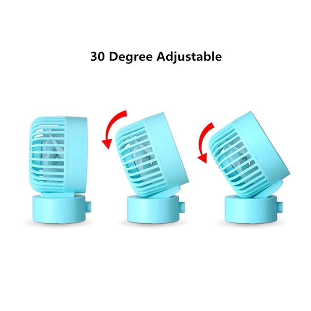 Mini Fan 2 Speed Cooling Adjustable Dual Motors USB Desktop Fan For Office Home Baby Sleep Summer Portable Fans(Blue)