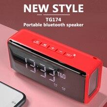 Subwoofer Music Wireless Column Loudspeaker outdoor Sound Bluetooth Speaker Desktop System Alarm Clock Function Player Center FM