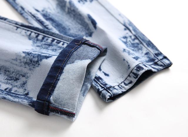 Fashion Brand Biker Hip Hop Jeans Plus Size Skinny Jeans Men Slim Trousers 2019 New Casual Washed Denim Pencil Pants Streetwear