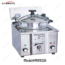 MDXZ16 Electric Chicken Pressure Fryer Commercial Stainless Steel Deep Fryer 15L Food chips frying machine With thermostat цена и фото