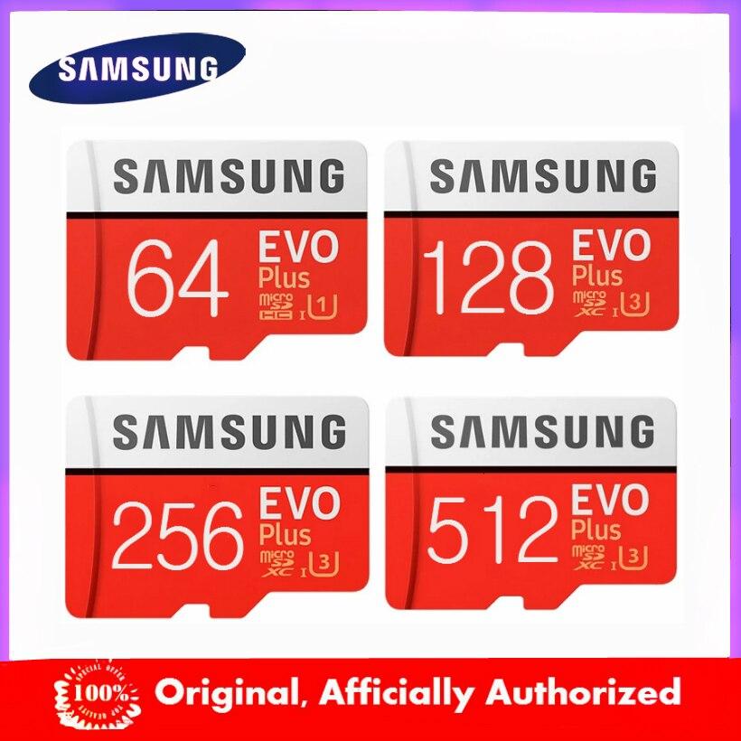 Новый продукт оригинальные SAMSUNG EVO + карты памяти 64 Гб EVO plus U3 128 ГБ 256 Гб класс 10 Micro SD карта 32 Гб 16 Гб microSD UHS-I TF карта