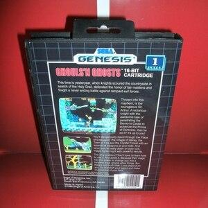 Image 2 - MD oyun kartı Ghouls n hayaletler abd kapak kutusu ve manuel Sega Megadrive Genesis video oyunu konsolu 16 bit MD kart