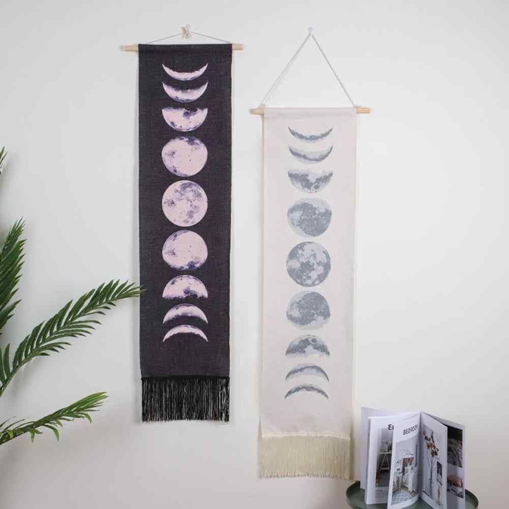 Tapiz de fases de Luna Cambio de Eclipse Lunar tapiz de fase de luna decoración colgante de pared para dormitorio sala de estar dormitorio