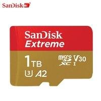 Envío Gratis SanDisk Extreme tarjeta MicroSD U3 A2 tarjeta de memoria V30 32G 64G 128G 256GB Original TF tarjeta A1 para cámara 512g 1T SDXC