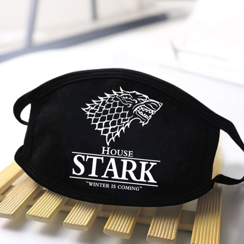 Unisex Game Of Thrones Man Mouth Mask 2020 Fashion Streetwear Masks Male Reusable Cool Masks Breathable Women Dustproof Masque